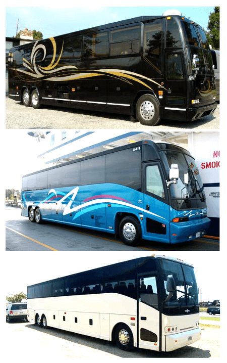 charter bus rental columbia