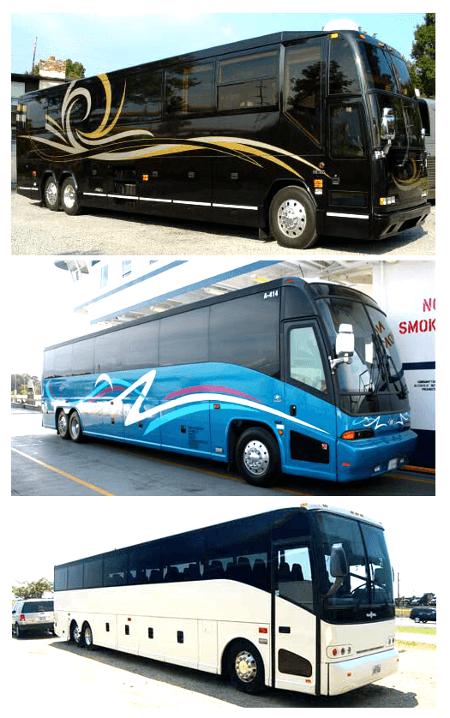 charter bus rental columbia